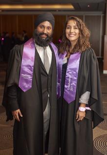 Heathrow graduate Sandeep Padam and fellow graduate Vivian Escobar