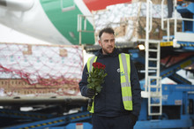 Tonnes of Valentine's Day roses arrive at Heathrow