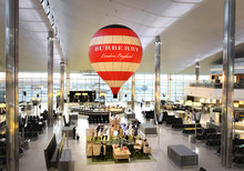 Burberry reveals hot air balloon installation at Heathrow