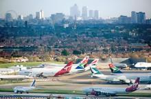 Heathrow - London skyline
