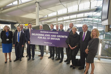 Business and union leaders join forces to back third runway through to delivery