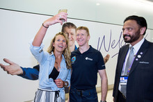 Tim Peake with an excited passener