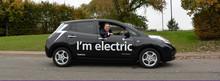 Heathrow's CEO John Holland-Kaye in electric car
