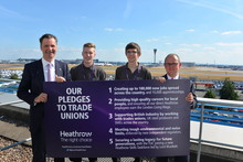 5 pledges for union members with Heathrow expansion
