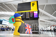 Mr Adventure lands at Heathrow