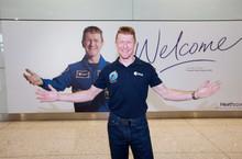 Tim Peake lands at Heathrow 2
