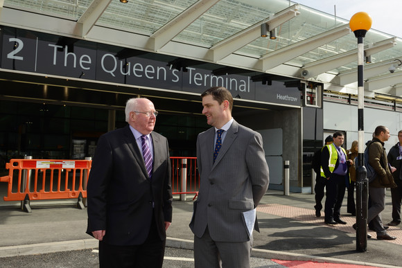 Heathrow - Rt Hon Tom Clarke visits Heathrow Terminal 2