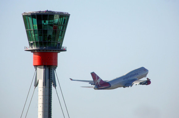 Heathrow control tower and plane (c) Heathrow media centre