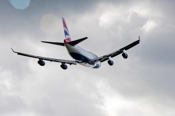 BA aircraft in flight