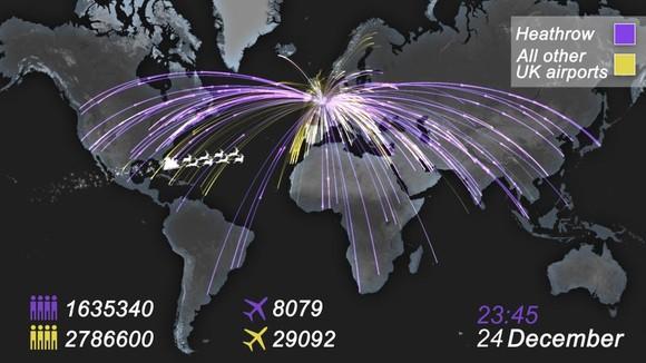 Christmas international map