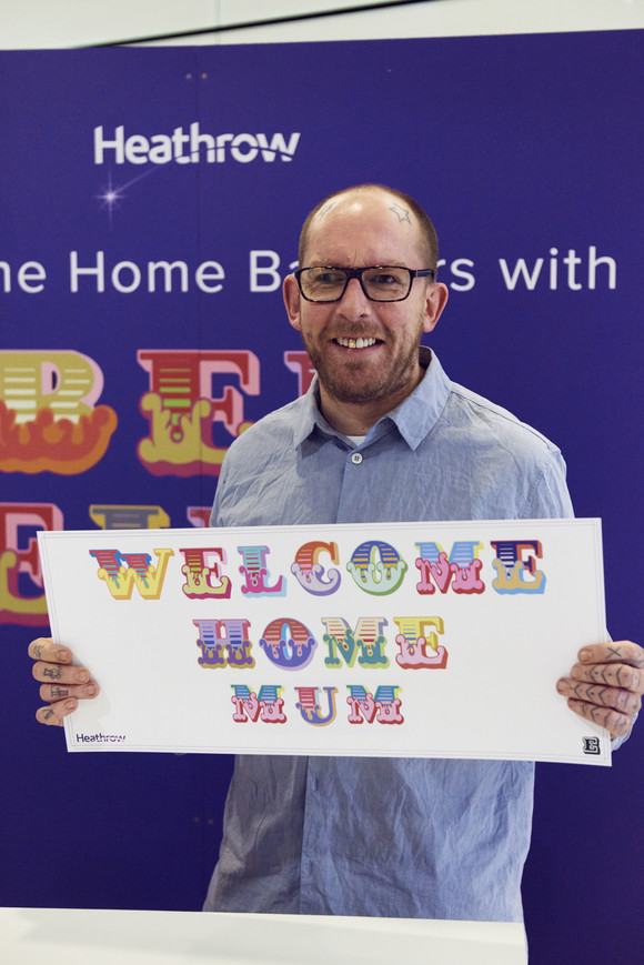 Welcome home banners with Ben Eine 2