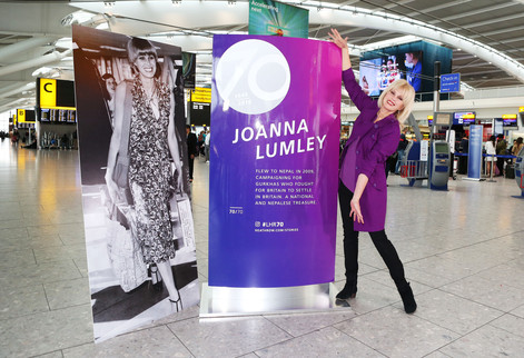Joanna Lumley and Heathrow celebrate 70 years