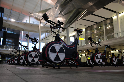 350 cyclists race Air Canada flight to Toronto in Heathrow's Race the Plane charity challenge